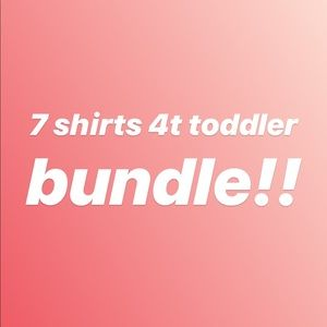 Other - 7 TOPS! 4t girls shirt bundle!